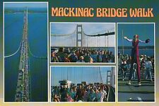 Mackinac Bridge Michigan, Great Lakes, Suspension, Lake MI & Huron --- Postcard