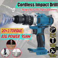 3 in1 95Nm Cordless Hammer Impact Drill 2 Speed 23 TorqueTool For Makita 18V /