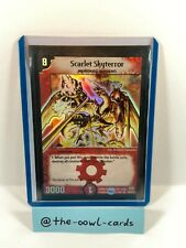 Duel Masters Card - Scarlet Skyterror - DM-01, English, NM, Super Rare