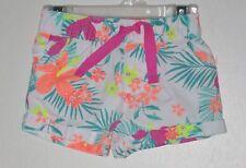 CARTER'S Girl Size 9 Months Multi-Color Floral Shorts