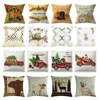 Merry Christmas Festival Throw Cushion Cover Pillow Case Pillowcase BEST Decor