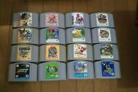 Nintendo 64 Game bundle lot of 16 games Cartridge Goemon, Pokemon, Smash Bro's