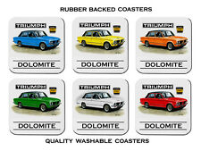 1973'  -  1980' TRIUMPH DOLOMITE SPRINT      SET OF  6   RUBBER DRINK  COASTERS