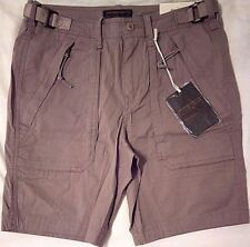 """ABERCROMBIE AND FITCH Mens Paratroop Shorts W 30"""" Beige Tan 97% Cotton Stretch"""