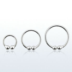 FINE STERLING SILVER 925 NOSE CLIP FAKE Non Piercing Septum Ring Hoop 8,10,12mm