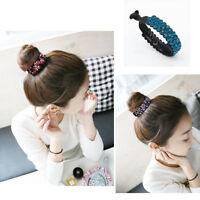Women Hair Clips Nest Crystal Hairpin Hair Claws Ponytail Bun Holder Accessories