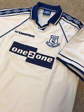 RARE VINTAGE EVERTON FC FOOTBALL CLUB ONE 2 ONE UMBRO SHIRT 1998 XL