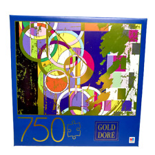 Gold Dore Abstract Circles 750 Piece Jigsaw Puzzle Metallic Gold Geometric Art