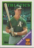 Mark McGwire All Star Rookie 1988 Topps Baseball Card #580 Oakland Athletics
