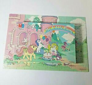 Vintage 1985, My Little Pony Puzzle 4576-1, Happy Birthday Castle, 100 Piece Art