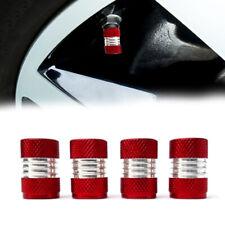 4x Car Red Aluminum Wheel Tire Valve Stems Screw Cap Air Dust Cover Accessories