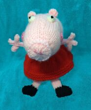 KNITTING PATTERN - Peppa Pig inspired chocolate orange cover / 20 cms toy