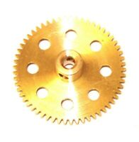 MECCANO - Lot of 6, Part # 27a Spur Gears 57 Teeth Brass NEW VINTAGE ORIG