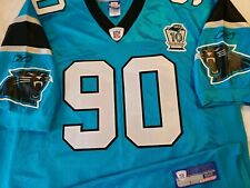 Julius Peppers 2004 Carolina Panthers NFL Reebok Authentic Game Jersey Size 52
