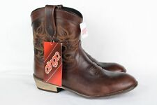 New Dingo Women's Willie Short Western Cowboy Boots DI865 Brown Leather