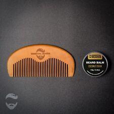 Beard Balm and Beard Comb, Beard Grooming, Made in UK, Organic, Coconut Cream