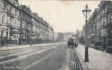 London Postcard. Holland Park. Chelsea. Horse/Carriage. Architecture. Mail 1908