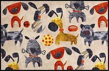 Salonloewe Fußmatte Hundetreffen 50 x 75 cm Hundefußmatte waschbare Schmutzmatte