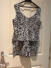 shorts/ playsuit size 14. boohoo.party.races.summer.holiday.beach.