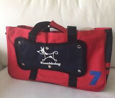 New listing New Red Navy Durable Canvas Dog Pet Carrier Shoulder Travel Bag up to 10 Lbs