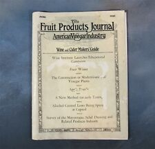 1935 Fruit Products Journal & American Vinegar Industry - Wine and Cider Makers