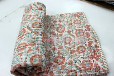 Hand Block Print quilt Kantha baby Quilt Baby Wrap baby Kanth Throw Blanket New%