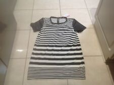 Black/White Striped T- Shirt Dress Supre Brand Size Medium BNWT
