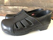 Sanita The ORIGINAL Danish Design Black Leather Comfort Clog EUR 41/10-11