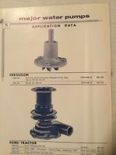 MAJOR SHAW WATER PUMPS PAGE WITH DEALER PRICE LIST original 1961