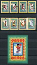 MALEDIVEN MALDIVE 1992 Olympiade Olympics Barcelona 1738-1745 + Block 233 **