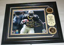 REGGIE BUSH HIGHLAND MINT FRAMED AUTOGRAPHED 8X10 4/50 NEW ORLEANS SAINTS