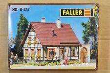 FALLER B-215 HO GAUGE TIMBERED HOUSE with GARAGE KIT for RAILROAD LAYOUT np