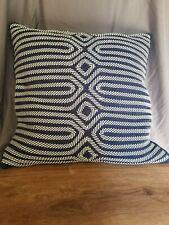 Celerie Kemble Blue Geometric Decorative Throw Pillow