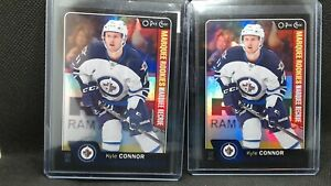 2016-17 O-Pee-Chee Platinum Update KYLE CONNOR Black Border Rookie Lot of 2 #100