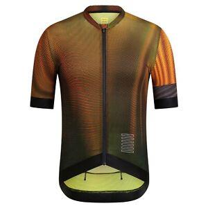 NEW Rapha Men's Cycling Jersey XXL Pro Team Training Flight Print Aero Orange
