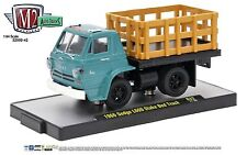 1:64 M2 Machines *AUTO-TRUCKS R42* Teal 1966 Dodge L600 Stake Bed Truck NIB!