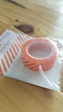"Queen & Co Washi Trendy Tape! ""Diagonal Stripe Orange"" 10 yards each roll!"