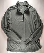Men's Nike Half Zip Gray Dri Fit Pullover Size Large 504606