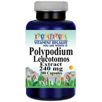 Polypodium Leucotomos Extract 240mg 200 Capsules by Vitamins Because