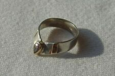 Tiara Ring Toe ? Sterling Silver 925 18K Gold Plate Size 6 1/4 Purple Stone