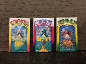 ILLUMINATUS TRILOGY Vintage Paperback set 1975- Robert Shea, Robert Anton Wilson