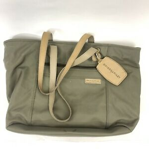 Briggs & Riley Travelware Large Shopping Tote Bag in Olive Green Carry On 1155-7