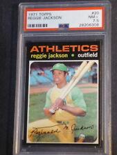 1971 Topps Reggie Jackson #20 Athletics PSA 7.5 NM+ SHARP!!