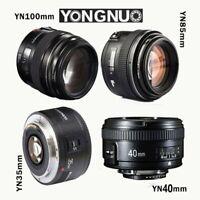 Yongnuo YN 35mm  40mm 50mm 100mm EF Prime Fixed Lens for Nikon DSLR EOS Photo