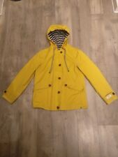 Joules Yellow Raincoat / Jacket Size 10