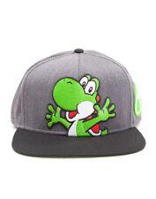 Oficial NINTENDO SÚPER MARIO Bro's Yoshi y huevos Gris Snapback Cap (nuevo)