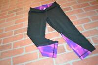 10183-a Womens Under Armour Gym Pants Size Small Fitted Polyester Black