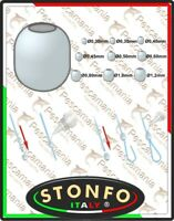Perline Stonfo in plastica con foro calibrato art.519 perlina