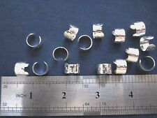 15 earring cuffs w/ stars silver plated ear wrap jewelry findings w/ hole 11 mm