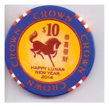 $10 Melbourne Crown Casino - 2014 Lunar Year of the Horse - Hard to Obtain